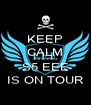 KEEP CALM BECAUSE S5 EEE IS ON TOUR - Personalised Poster A4 size