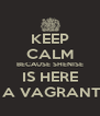 KEEP CALM BECAUSE SHENISE IS HERE TO LAFF AT YOU WHEN A VAGRANT CUSS U UP ON D ROAD - Personalised Poster A4 size
