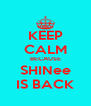 KEEP CALM BECAUSE SHINee IS BACK - Personalised Poster A4 size