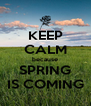 KEEP CALM because SPRING IS COMING - Personalised Poster A4 size