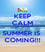 KEEP CALM BECAUSE SUMMER IS  COMING!!! - Personalised Poster A4 size