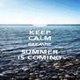 KEEP CALM BECAUSE SUMMER IS COMING - Personalised Poster A4 size