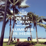 KEEP CALM BECAUSE SUMMER IS HERE - Personalised Poster A4 size