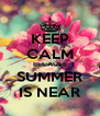 KEEP CALM BECAUSE SUMMER IS NEAR - Personalised Poster A4 size