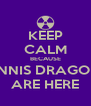 KEEP CALM BECAUSE TENNIS DRAGONS ARE HERE - Personalised Poster A4 size