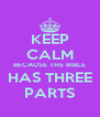 KEEP CALM BECAUSE THE BIBLE HAS THREE PARTS - Personalised Poster A4 size