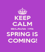 KEEP CALM BECAUSE THE SPRING IS COMING! - Personalised Poster A4 size