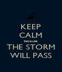 KEEP CALM because THE STORM WILL PASS - Personalised Poster A4 size