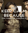 KEEP CALM BECAUSE THE VAMPIRE DIARIES IS   - Personalised Poster A4 size