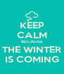 KEEP CALM BECAUSE THE WINTER IS COMING - Personalised Poster A4 size