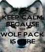 KEEP CALM BECAUSE THE WOLF PACK IS HERE - Personalised Poster A4 size