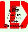 KEEP CALM because there One  Direction  - Personalised Poster A4 size