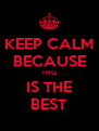 KEEP CALM BECAUSE THG IS THE BEST - Personalised Poster A4 size