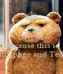 KEEP CALM  Because this is my page and Ted - Personalised Poster A4 size