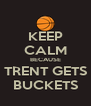 KEEP CALM BECAUSE TRENT GETS BUCKETS - Personalised Poster A4 size