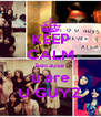 KEEP CALM because u are U GUYZ - Personalised Poster A4 size