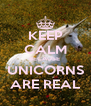 KEEP CALM BECAUSE  UNICORNS ARE REAL - Personalised Poster A4 size