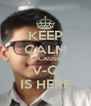 KEEP CALM BECAUSE V-C IS HERE - Personalised Poster A4 size