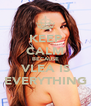 KEEP CALM BECAUSE VLEA IS EVERYTHING - Personalised Poster A4 size