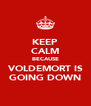 KEEP CALM BECAUSE VOLDEMORT IS GOING DOWN - Personalised Poster A4 size