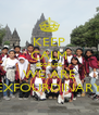 KEEP CALM BECAUSE WE ARE EXFOURDINARY - Personalised Poster A4 size