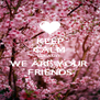 KEEP CALM BECAUSE WE ARE YOUR  FRIENDS - Personalised Poster A4 size