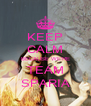 KEEP CALM BECAUSE WE'RE TEAM SPARIA - Personalised Poster A4 size