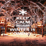 KEEP CALM BECAUSE WINTER IS COMING... - Personalised Poster A4 size