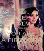 KEEP CALM BECAUSE YOU ARE  A FIREWORK - Personalised Poster A4 size