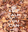 KEEP CALM BECAUSE YOU CAN - Personalised Poster A4 size