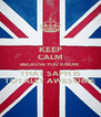 KEEP CALM BECAUSE YOU KNOW THAT SAPH IS TOTALLY AWESOME - Personalised Poster A4 size