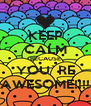 KEEP CALM BECAUSE YOU`RE AWESOME!!!! - Personalised Poster A4 size