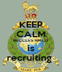 KEEP CALM BECCLES RMCD is recruiting  - Personalised Poster A4 size