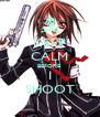 KEEP CALM BEFORE  I SHOOT - Personalised Poster A4 size