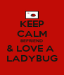 KEEP CALM BEFRIEND & LOVE A  LADYBUG - Personalised Poster A4 size