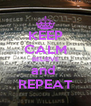 KEEP CALM BELIEVE and  REPEAT - Personalised Poster A4 size
