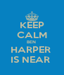 KEEP CALM BEN  HARPER  IS NEAR  - Personalised Poster A4 size