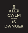 KEEP CALM BesaR IS DANGER - Personalised Poster A4 size