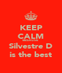 KEEP CALM BESAUSE  Silvestre D is the best - Personalised Poster A4 size