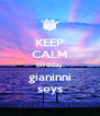 KEEP CALM birdday gianinni seys - Personalised Poster A4 size