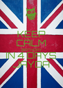 KEEP CALM BIRTHDAY IN 4 DAYS JAYDA - Personalised Poster A4 size