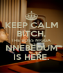 KEEP CALM BITCH, THE BOSS NIGGA NNEBEDUM IS HERE. - Personalised Poster A4 size