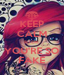 KEEP CALM BITCH, YOU'RE SO FAKE - Personalised Poster A4 size