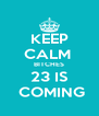 KEEP CALM  BITCHES 23 IS  COMING - Personalised Poster A4 size