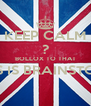 KEEP CALM ? BOLLOX TO THAT THIS IS BRAINSTORM  - Personalised Poster A4 size