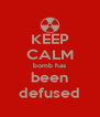 KEEP CALM bomb has been defused - Personalised Poster A4 size