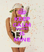 KEEP CALM BONNIE IS MINE - Personalised Poster A4 size