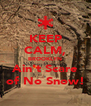 KEEP CALM, BROOKLYN Ain't Scare of No Snow! - Personalised Poster A4 size
