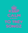KEEP CALM & BUMP  TO TREY SONGZ - Personalised Poster A4 size