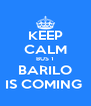KEEP CALM BUS 1 BARILO IS COMING  - Personalised Poster A4 size